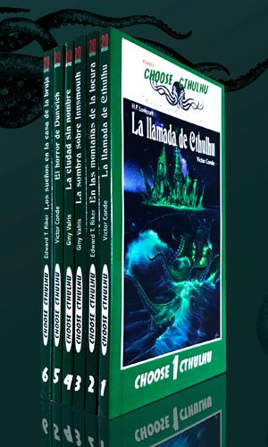 Pack de libros vintage de Choose Cthulhu
